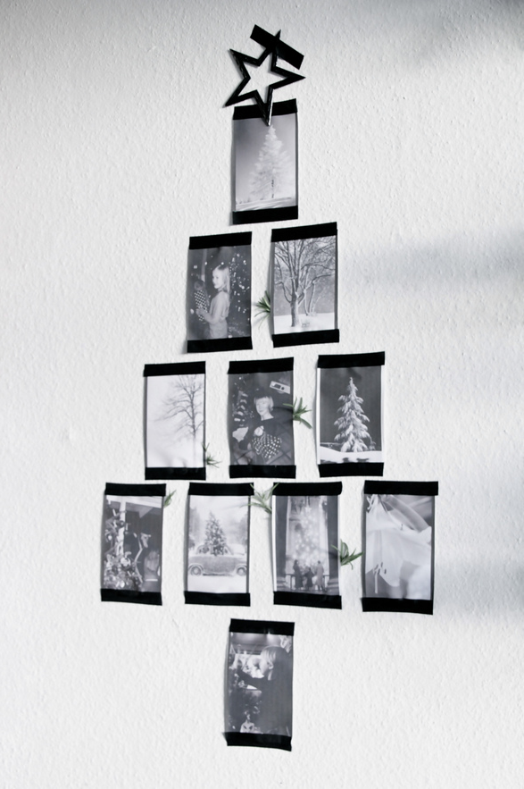 printed christmas tree wall