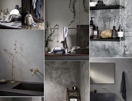 Bathroom moodbord Pinterest // heidihallingstad.com